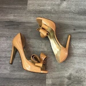 Valentino D'orsay Pumps with Bows Nude Size 37/7